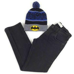 Levis 511 Black Boys Denim Jeans & Beanie Bundle